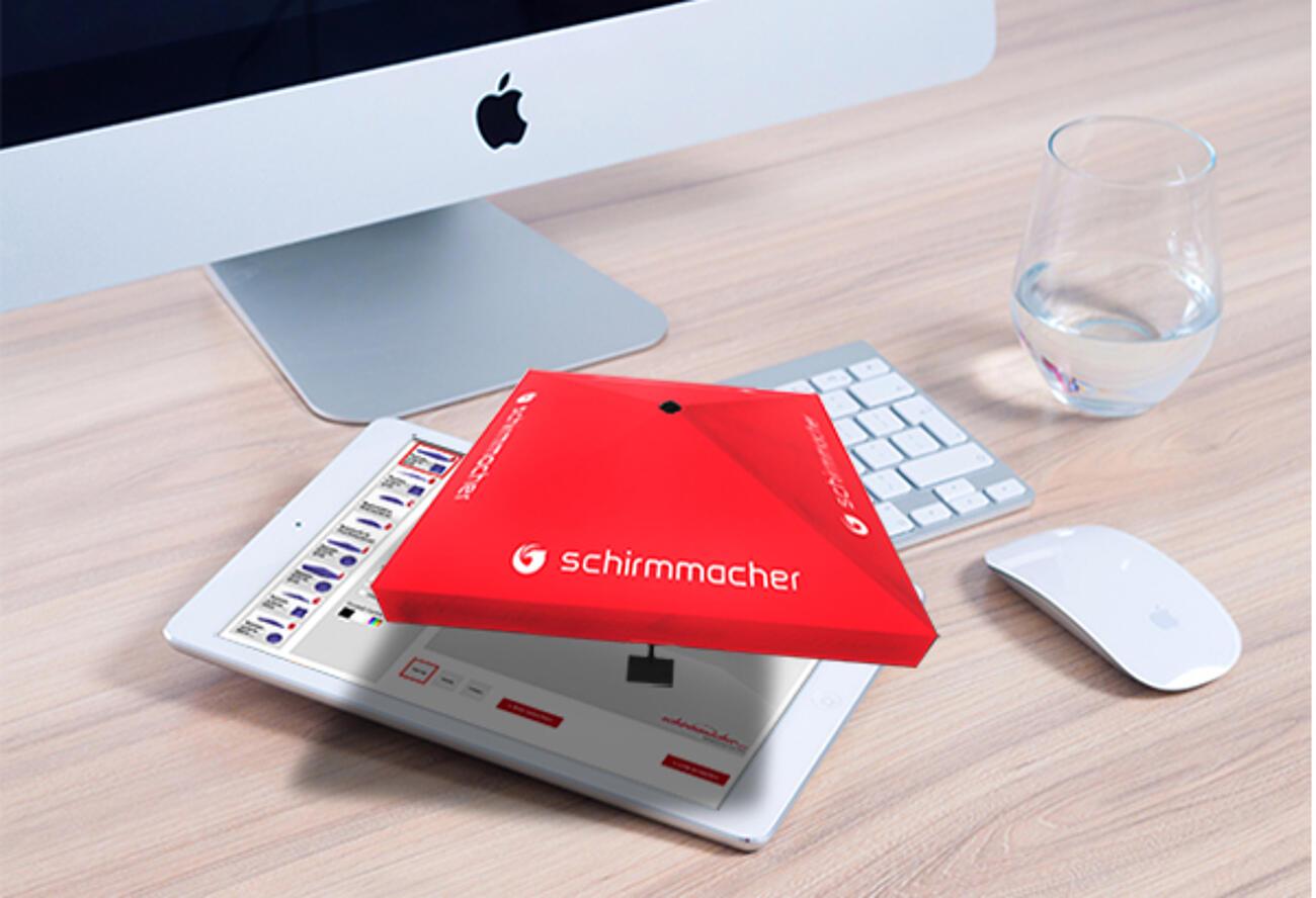 ¡Exclusivo diseñador 3D para paraguas personalizados!
